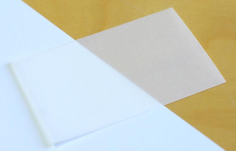 transparentes papier für einleger bedrucken - online druckereien, Einladung